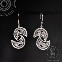 Moon- Miao Silver Filigree Earrings