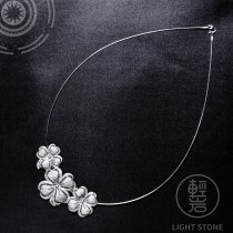 Lucky Clover - Miao Silver Filigree Necklace