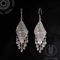 Clouds - Miao Silver Filigree Earrings