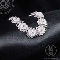 Flowers - Miao Silver Filigree Bracelet