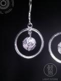 Flower Ball - Miao Silver Filigree Earrings