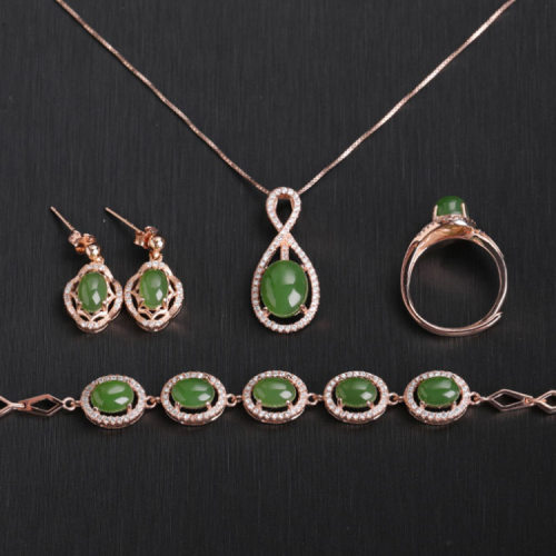 Luxe - Green Jade Jewellery Full Set