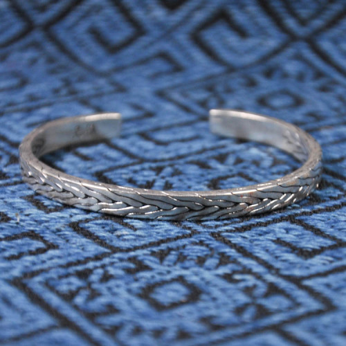 Fine Silver Bracelet - Forest Collection - Wheat
