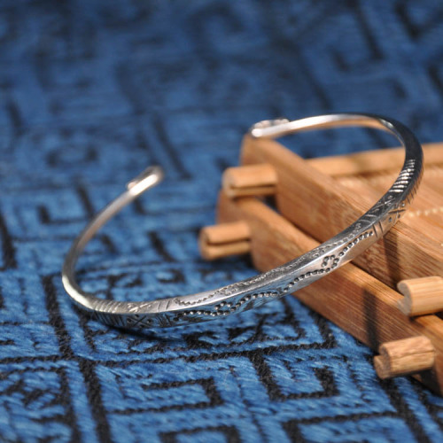 Fine Silver Bracelet - Sky Collection - Wind Blows
