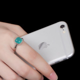 Chinese Artisan Jewelry- Square Amazonite - Silver Ring - Online Shop   LIGHT STONE
