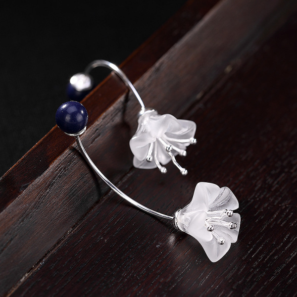Flower - Crystal Silver Earrings