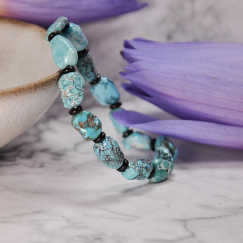 Sky Painting- Turquoise Handmade Tibetan Bracelet