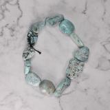 Gental Blue - Turquoise Handmade Tibetan Bracelet