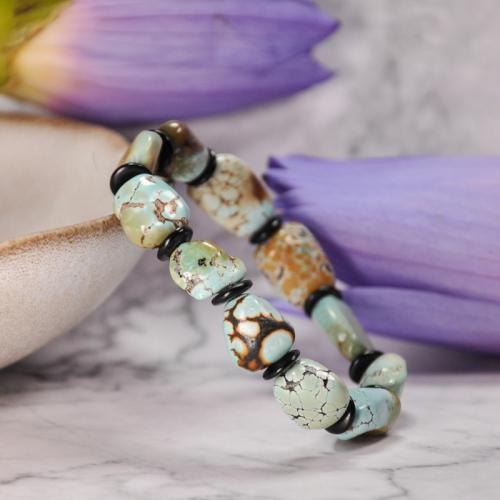 Earth Painting - Turquoise Handmade Tibetan Bracelet