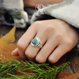 Chinese Handmade Jewelry- Online Shop- Turquoise - Tibetan Ring| LIGHT STONE
