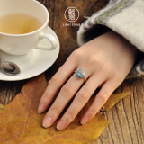 Lotus - Chinese Cloisonne Silver Ring - Online Shop   LIGHT STONE