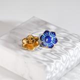 Online Earrings - Flower Ear Stud - Chinese Enamel Cloisonné Skill | LIGHT STONE