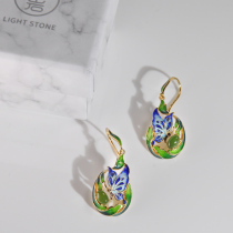 Butterfly - Cloisonne Silver Earrings