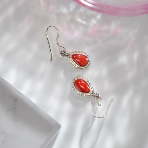 Water Drop - Handmade Tibetan Silver Earrings