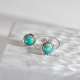 Chinese Handmade Jewelry- Online Shop-Turquoise Tibetan Silver Earrings| LIGHT STONE