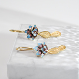 Online Earrings - Handmade Gift - Chinese  Enamel Cloisonné Lotus | LIGHT STONE
