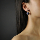 Best Online Earrings - Asian Chinese Artisan Lazurite Earrings - Universe| LIGHT STONE