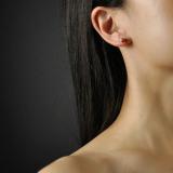 Lucky Clover - Handmade Tibetan Silver Ear Stud