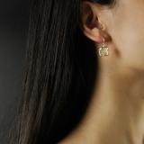 Chinese Asian Artisan- Online Shop- White Jade Plum Flower Earrings| LIGHT STONE