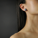 Online  Ear Stud - Lotus - Chinese Enamel Cloisonné | LIGHT STONE