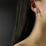 Chinese Artisan  Jewelry- Snail - Hetian Jade Silver Earrings | LIGHT STONE