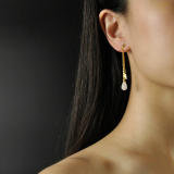 Online Earrings - Mulan - White Magnolia -Chinese Jade Silver Earrings| LIGHT STONE