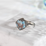 Lotus - Chinese Cloisonne Silver Ring - Online Shop | LIGHT STONE