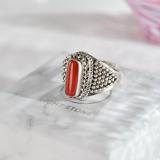Chinese Handmade Jewelry- Carol - Tibetan Handmade Ring| LIGHT STONE