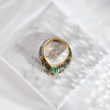 Online Ring- Flower - Chinese Vintage Silver Ring| LIGHT STONE