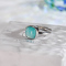 Chinese Artisan Jewelry- Square Amazonite - Silver Ring - Online Shop | LIGHT STONE
