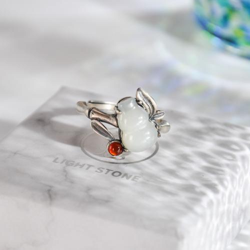 Hulu - Jade Silver Ring