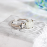 Pumpkin - Chinese Handmade Jade Silver Ring - Online Shop  | LIGHT STONE