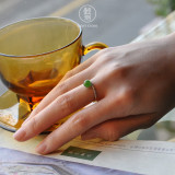 Lucky Ball - Chinese Green Jade Silver Ring - Best Online Shop - Asian Gift| LIGHT STONE