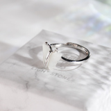 Butterfly - Chinese Jade Silver Ring - Handmade - Online Shop | LIGHT STONE