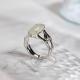 Bamboo - Jade Silver Ring