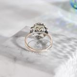 Flower - Chinese Jade Silver Ring - Handmade - Online Shop | LIGHT STONE