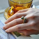 Flower - Vintage Silver Ring