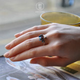 Lotus - Cloisonne Enameling Silver RIng
