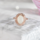 Rose Golden Silver Ring - Handmade - Online Shop | LIGHT STONE