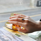 Parrot Silver Ring - Chinese Enameling Traditional Technique - Online Shop | LIGHT STONE