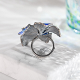Blue Flower - Chinese Traditional Cloisonne  Lazurite Silver Ring -  Online Shop | LIGHT STONE