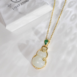 Hulu - Chinese Handmade Jade Silver Necklace - Online Shop | LIGHT STONE