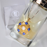 Sun Flower - Gilt Silver Chinese Enameling Pearl Necklace -Online Shop   LIGHT STONE
