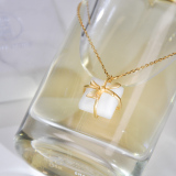 Bowtie - Chinese White Jade Necklace - Online Shop | LIGHT STONE