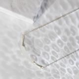 Bamboo - White Jade Necklace - Chinese Artisan  Jewelry  LIGHT STONE