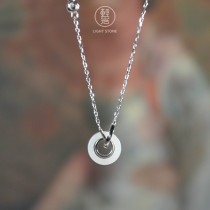 Lucky Coin - Silver Hetian Jade Necklace