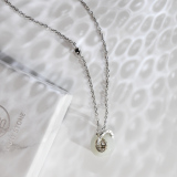 Lucky Coin - Chinese Silver Hetian Jade Necklace - Handmade - Online Shop