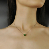 Lucky Ball - Chinese Green Jade Necklace -  Online Shop | LIGHT STONE