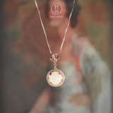 Rose Gold - Chinese White Jade Necklace - Online Shop | LIGHT STONE