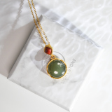 Jade Plaque  - Chinese Green Jade Necklace -  Online Shop | LIGHT STONE
